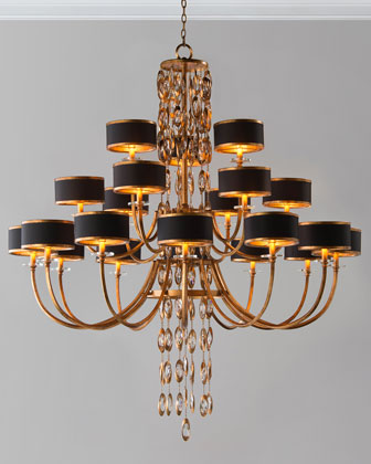 Black Tie 21-Light Chandelier