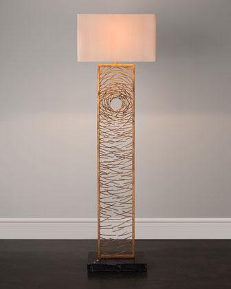Gold Vortex Floor Lamp