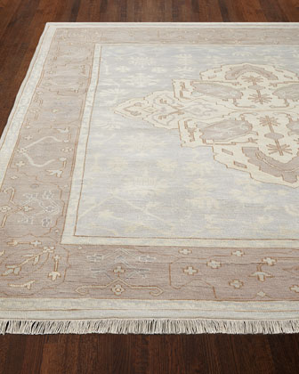 Lady Blue Oushak Rug, 6' x 9'