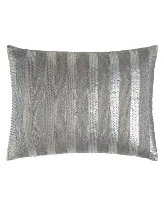 Silver Beads Stripe Pillow, 15