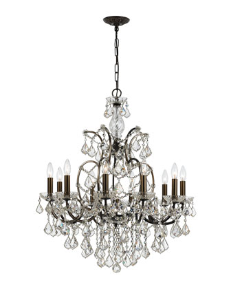 Crystorama Filmore 10-Light Swarovski Bronze Chandelier