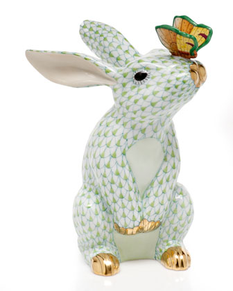 Key Lime Bunny with Butterfly