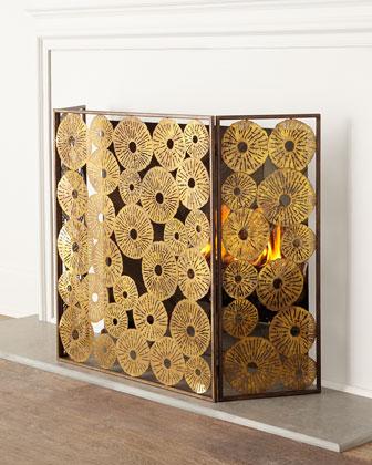 Sand Dollar Fireplace Screen