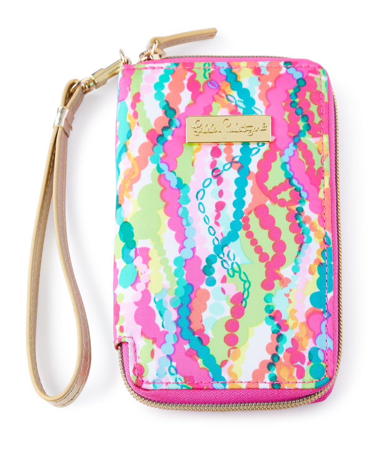 Pink Multi-Print Tiki Palm iPhone 6 Wristlet, Multi Colors - Lilly Pulitzer