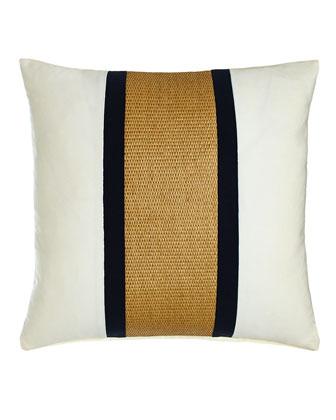 Navy Regents Cross Outdoor Pillow