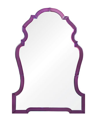 Payton Purple Chippendale-Style Mirror