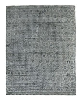Blue Flatweave Rug, 8' x 10'