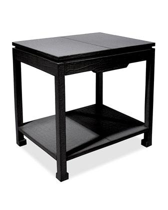 Preston Black Side Table