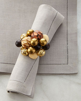 Wood Bauble Napkin Ring