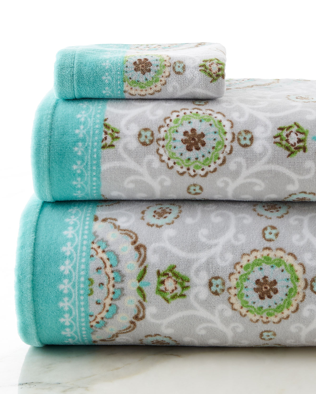 Camden Hand Towel, Gray - Dena Home