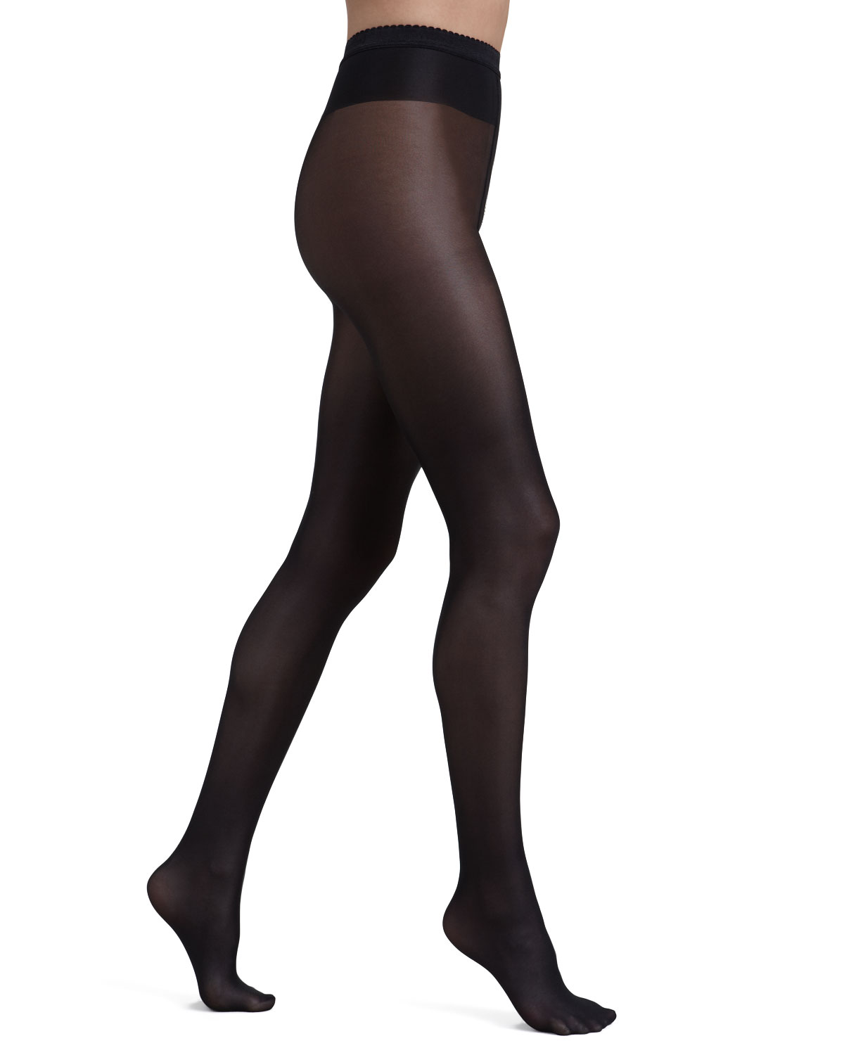 Neon 40 Glossy Tights, Size: LARGE, BLACK - Wolford