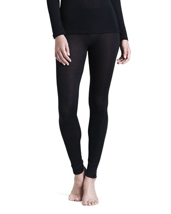 Silk Leggings, Black