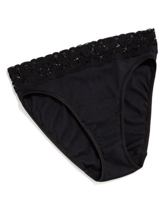 Moments High-Cut Brief, Black