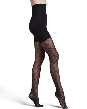 Sheer Fashion Pantyhose, Diamond