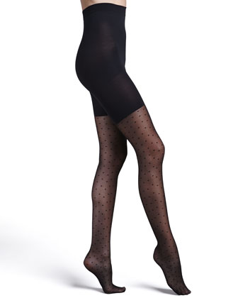 Sheer Fashion Pantyhose, Swiss Dot