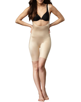 Slimplicity Open-Bust Mid-Thigh Bodysuit