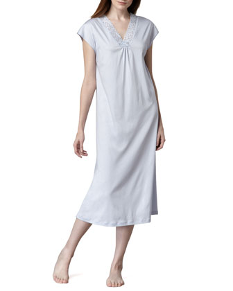 Moments Cap-Sleeve Gown, Blue Glow