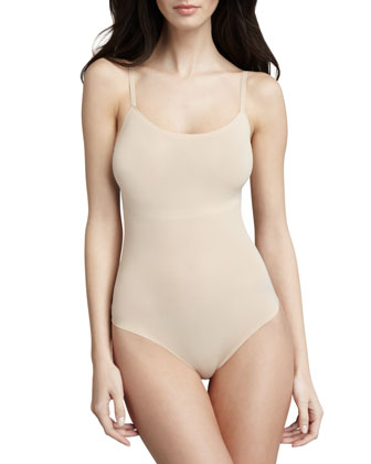 Trust Your Thinstincts Thong Bodysuit, Natural