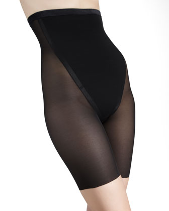 Sexy Sheer High Mid-Thigh Haute Contour Shaper, Pitch