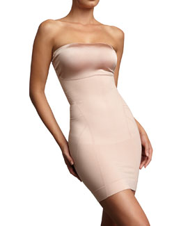 Spanx Slimmer & Shine Strapless Slip, Rose Gold
