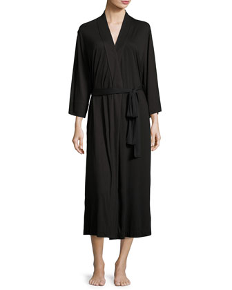 Shangri-La Jersey Robe, Women's, Heather Gray