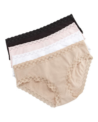Bliss Cotton Girl Briefs, Cafe