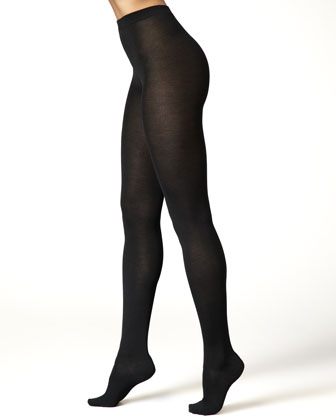 Cashmere-Silk Tights, Black