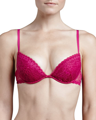 Rosa Floral-Lace Push-Up Bra