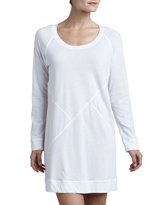 Pima Cotton Long-Sleeve Sleepshirt
