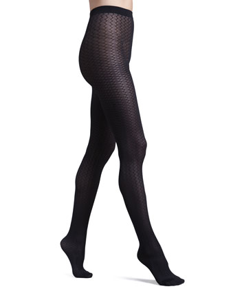Cross Line Tights, Black