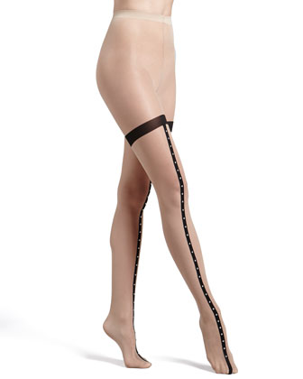 Roxette Studded Thigh-High Tights