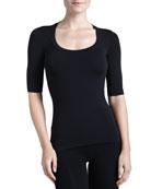 Como Scoop-Neck Half-Sleeve Shirt