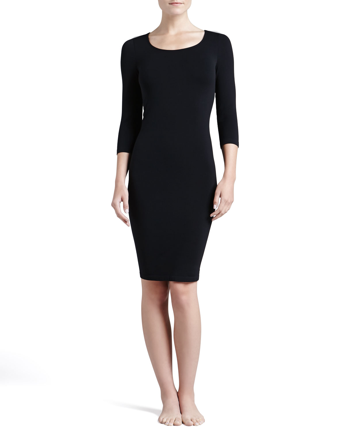 d411e0cd4db Womens Barcelona 3 4 Sleeve Lounge Dress Wolford Black (SMALL) on ...