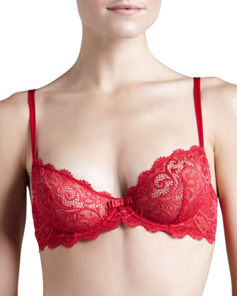 Celeste Demi Plunge Bra, Poppy Red