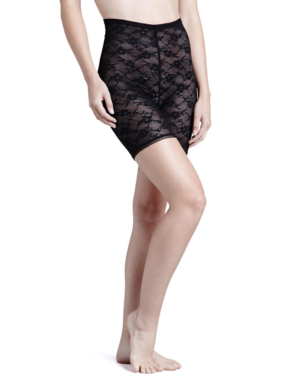 Womens Glam Stretch Lace Shaper Shorts, Black   Cosabella   Black (MEDIUM)