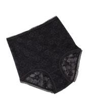 Glam Stretch-Lace Shaper Briefs, Black