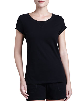 Khloe Cap-Sleeve Top