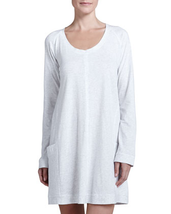 Pima Cotton Sleep Shirt, Heather Gray
