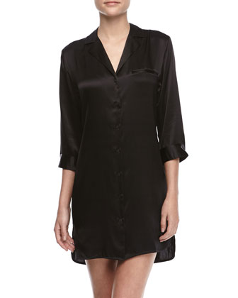 Studio Basic Silk Sleepshirt