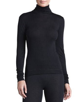 Silk-Cashmere Turtleneck