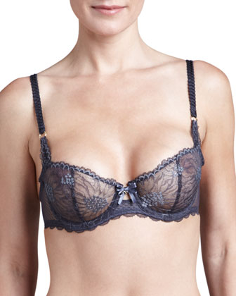 Opera Demi Bra, Dark Gray