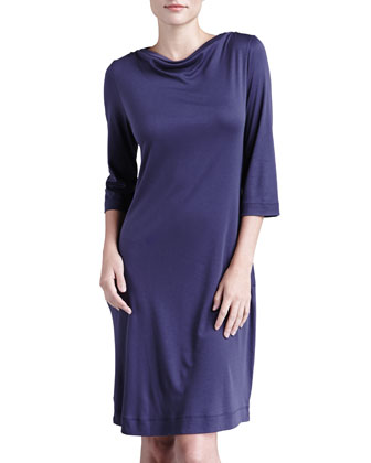 Laura Bateau-Neck Lounge Nightgown