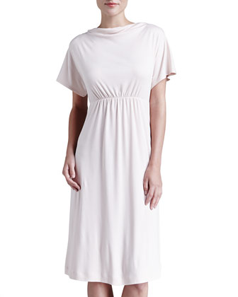 Laura Drape-Neck Lounge Nightgown