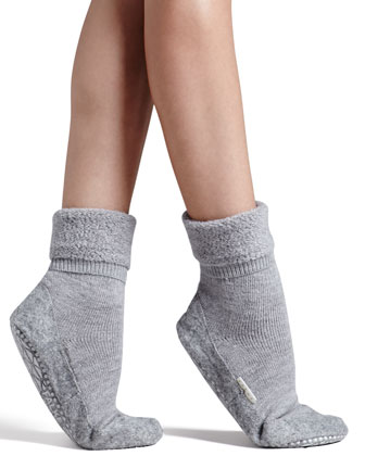 Cozy Plush House Shoes, Gray