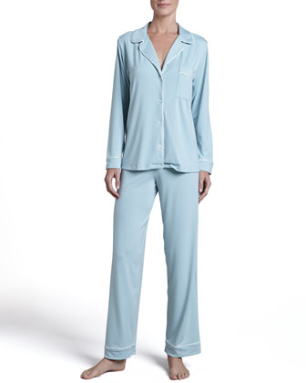 Gisele Long Pajama Set, Seaglass/Ivory