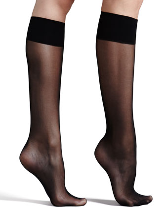Premier Sheer Basic Knee-High Socks, Black