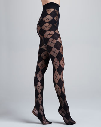 Argyle Semisheer Tights by Pretty Polly