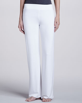French Terry Lounge Pants, White
