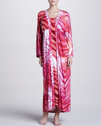 Dara Animal-Print Robe