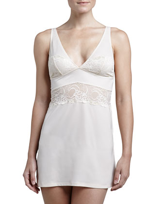Madison Metallic Lace Chemise